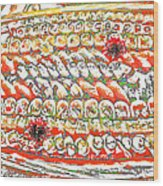 Sushi In Abstract Wood Print