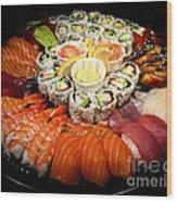 Sushi Party Tray Wood Print