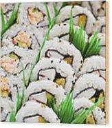 Sushi Platter Wood Print by Elena Elisseeva