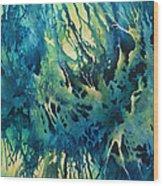 'Suspended Blue' Wood Print