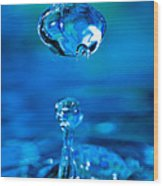 Suspended Drop In Blue Wood Print