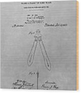 Suspender Patent Drawing Wood Print
