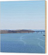 Susquehanna River And The Thomas J Hatem Bridge Wood Print