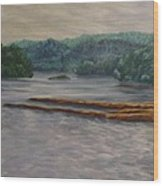 Susquehanna River At Saginaw Pa Wood Print