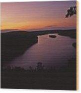 Susquehanna River Sunset Pennsylvania Wood Print