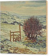 Sussex Stile, Winter, 1996 Wood Print