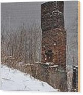 Sutherland Chimney In Winter Number One Wood Print