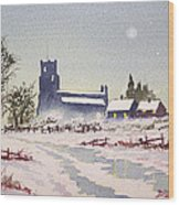 Suzan's Church Painting  Wood Print
