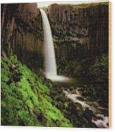 Svartifoss Waterfall, Skaftafell Wood Print