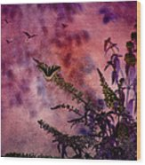 Swallowtail In The Butterfly Bush - Featured In The Wildlife And Comfortable Art And Newbies Groups Wood Print