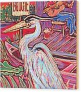 Swamp Boogie Wood Print by Robert Ponzio