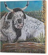 Swamp Bull Wood Print by Richard Goohs