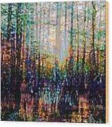 Swamp Colorfest Wood Print