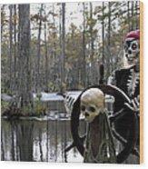 Swamp Pirate Wood Print