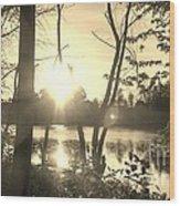 Swampy Sunset #4 Wood Print