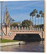 Swan And Dolphin Resort Bridge Wood Print