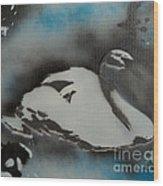 Swan Dream Wood Print