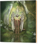 Swan Goddess Wood Print