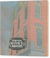 Swan Liquors Wood Print
