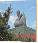 Swan Resort Statue Walt Disney World Wood Print