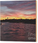 Swan River Sunset Wood Print