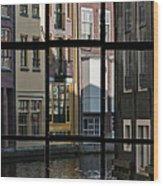 Swans Love Amsterdam Wood Print