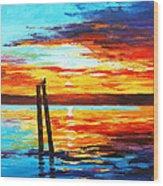 Swansea Sunset Wood Print