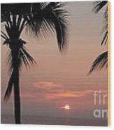 Swaying Palms Wood Print