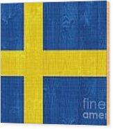 Sweden Flag Wood Print