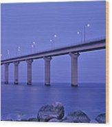 Sweden, The Bridge To The Island Wood Print