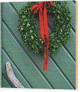 Sweden, Vastergotland, Christmas Wreath Wood Print