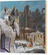 Swedish Elkhound - Jamthund Art Canvas Print  Wood Print