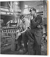 Swedish Foundry Workers Wood Print