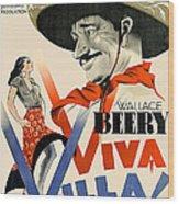 Swedish Poster #1   Viva Villa 1934-2008 Wood Print