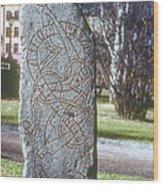 Swedish Runestone Wood Print