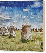 Swedish Standing Stones Wood Print