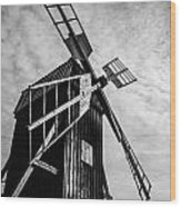 Swedish Windmill One Of The 400 Year Old Wood Print