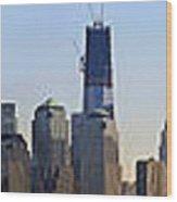 Sweeping Panorama Of New York City Before Sunset Wood Print