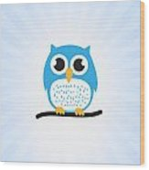 Sweet And Cute Owl Wood Print
