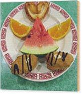 Sweet Angel 01 Wood Print by Ausra Huntington nee Paulauskaite