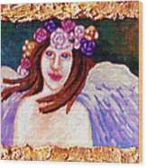 Sweet Angel Wood Print by Genevieve Esson