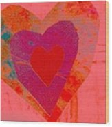Sweet-candy-heart Wood Print by Dorothy Rafferty