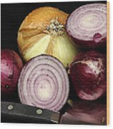 Sweet Candy Onions Wood Print