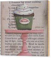 Sweet Chocolate Cupcake Wood Print