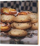 Sweet - Cookies - Cookies And Danish Wood Print
