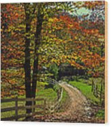Sweet Country Morning Wood Print