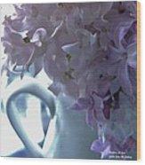 Sweet Cream Lilac Wood Print