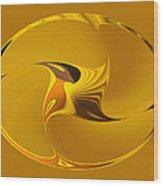 Sweet Golden Spinner Wood Print