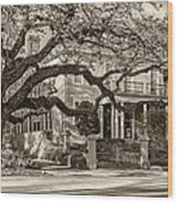 Sweet Home New Orleans 2 Sepia Wood Print
