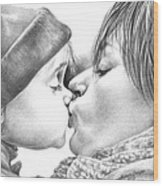 Sweet Kiss Wood Print